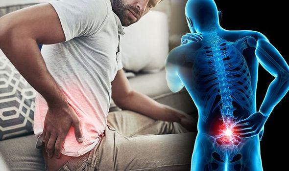Man having low back pain injury